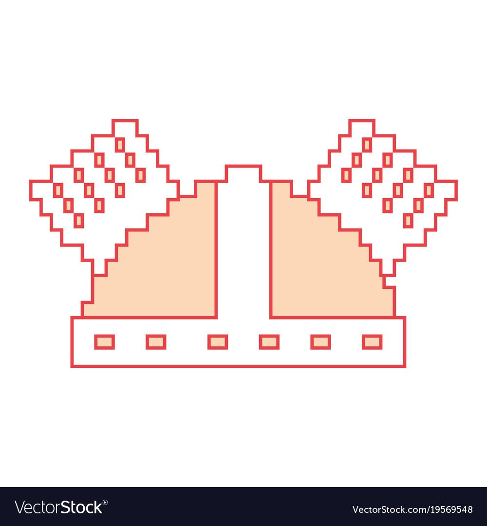 Pixel helmet protection game icon
