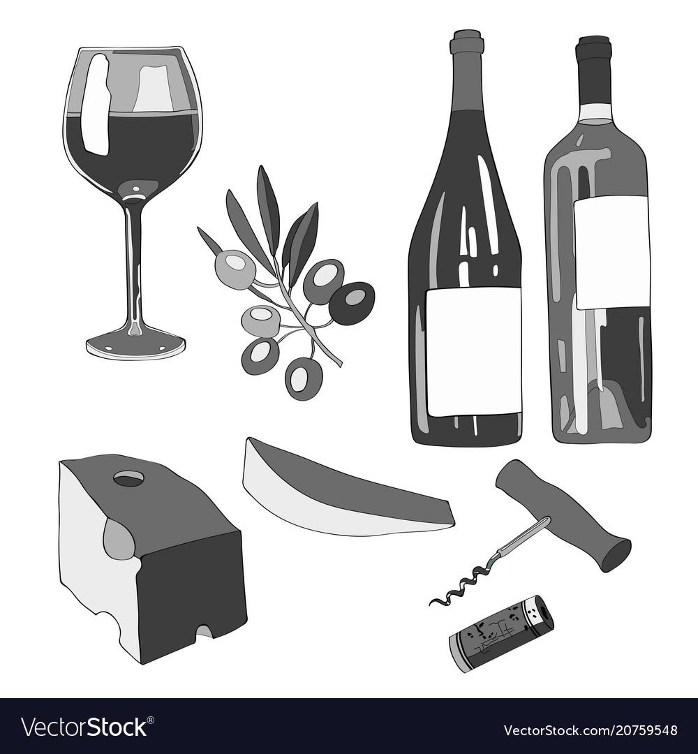Set wine a glass of wine a