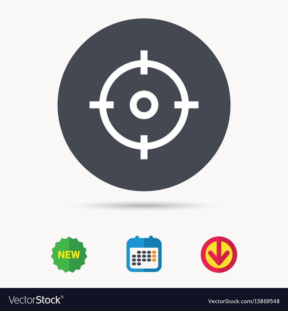 Target icon crosshair aim sign