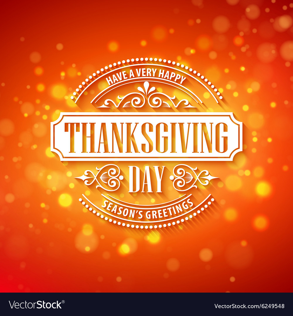 Typography design Thanksgiving Blurred and