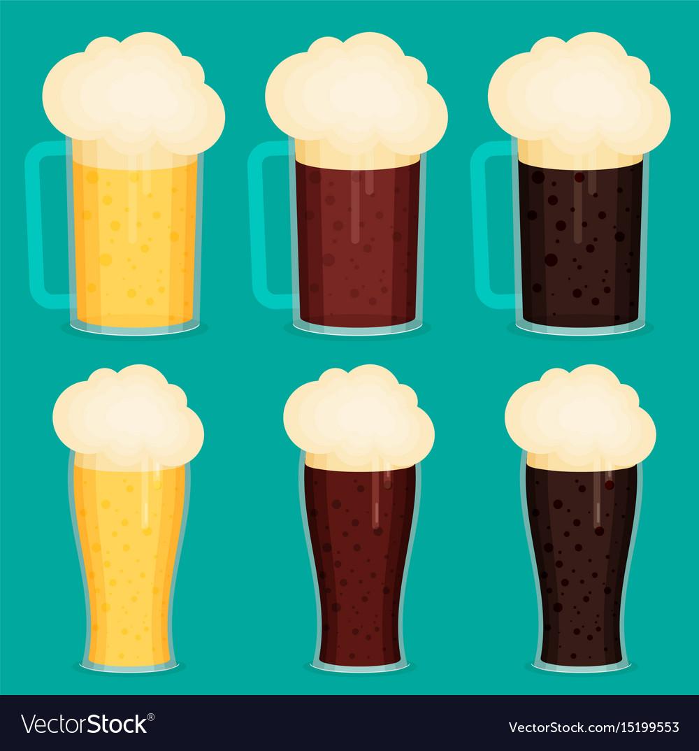 Beer cup flat