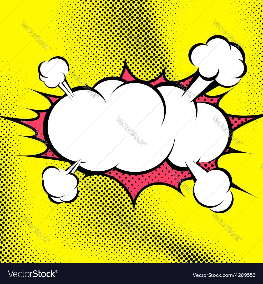 Big retro style comic book explosion cloud