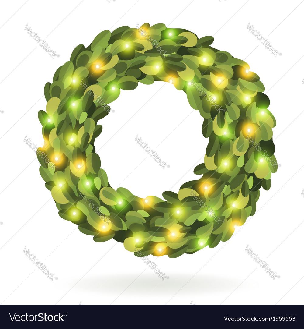 Christmas garland wreath image