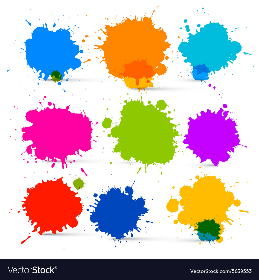 Colorful Isolated Blots - Splashes Set