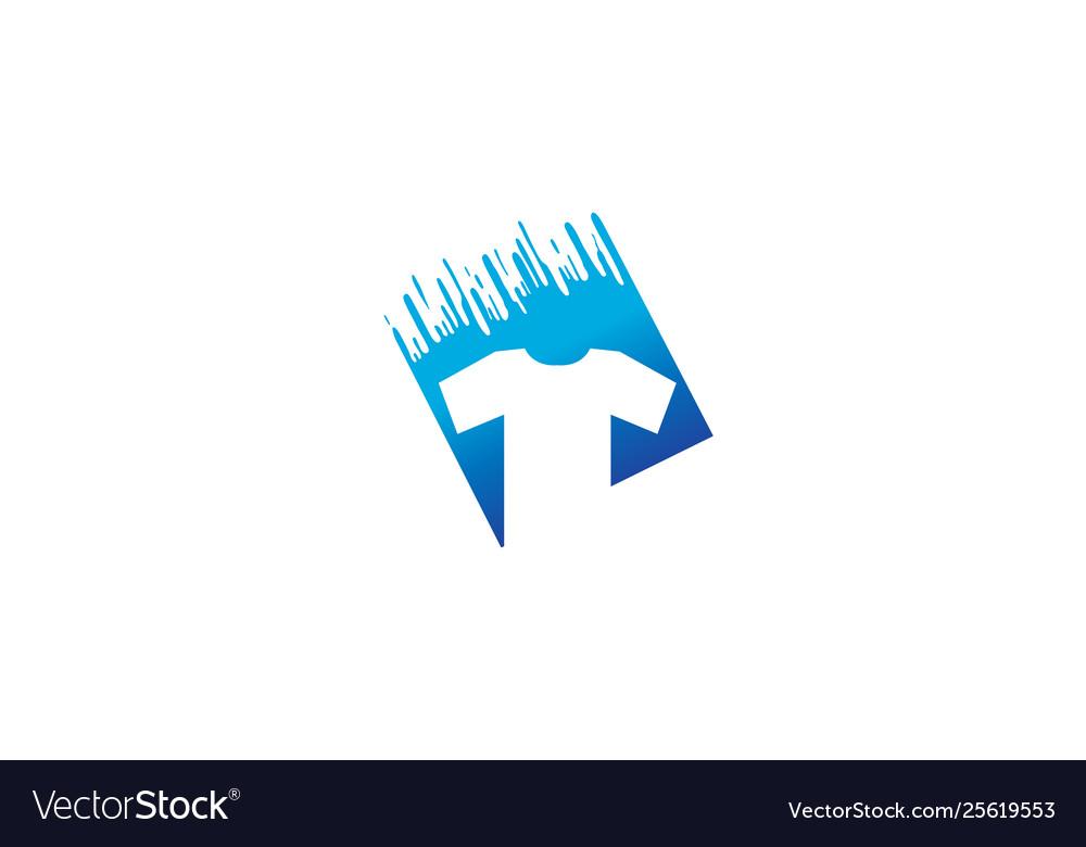 Creative t-shirt silkscreen logo symbol