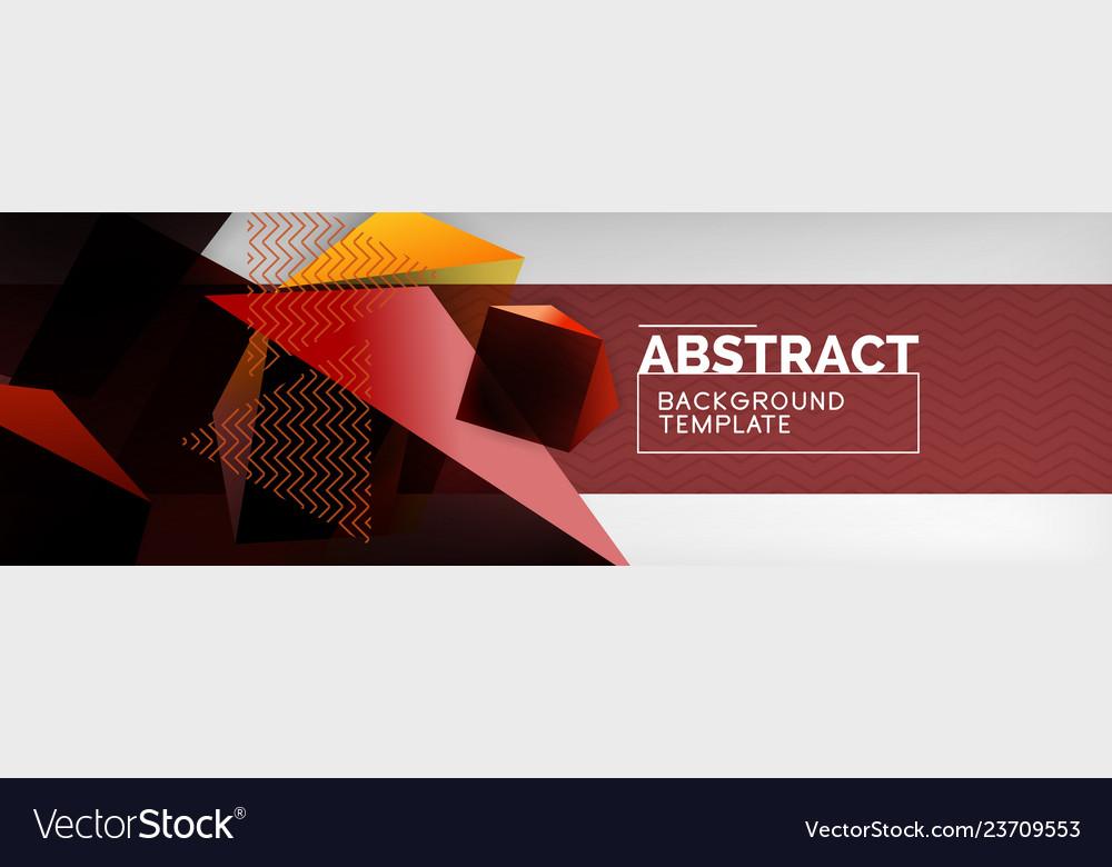 Dark color geometric abstract background 3d