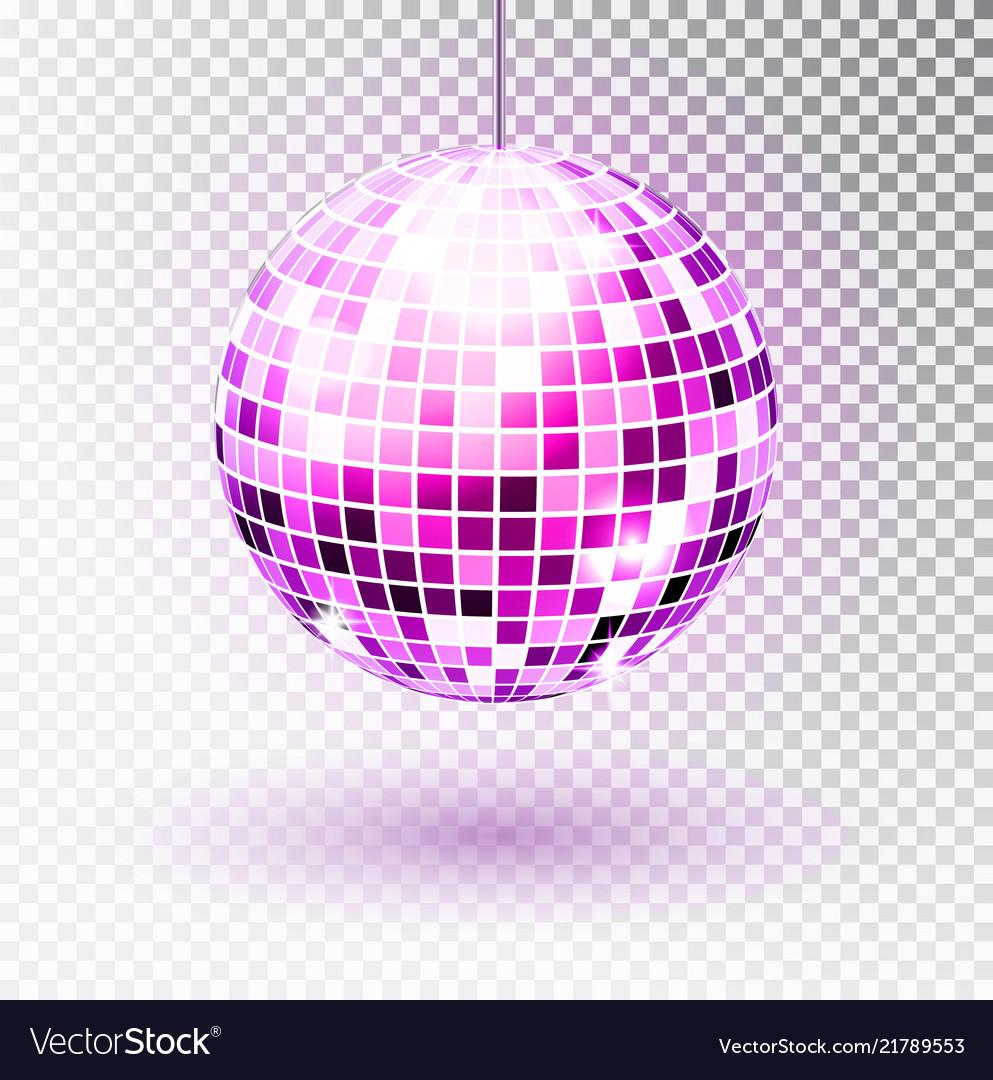 Disco ball isolated night