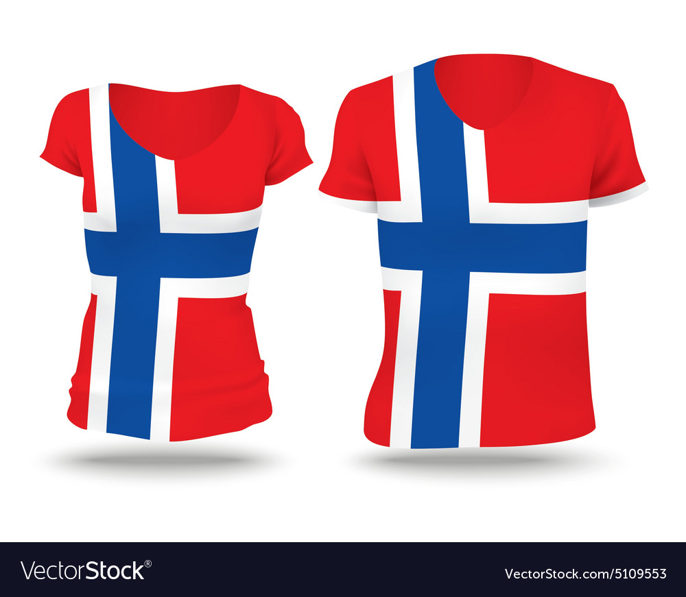 Flag shirt design of Jan Mayen