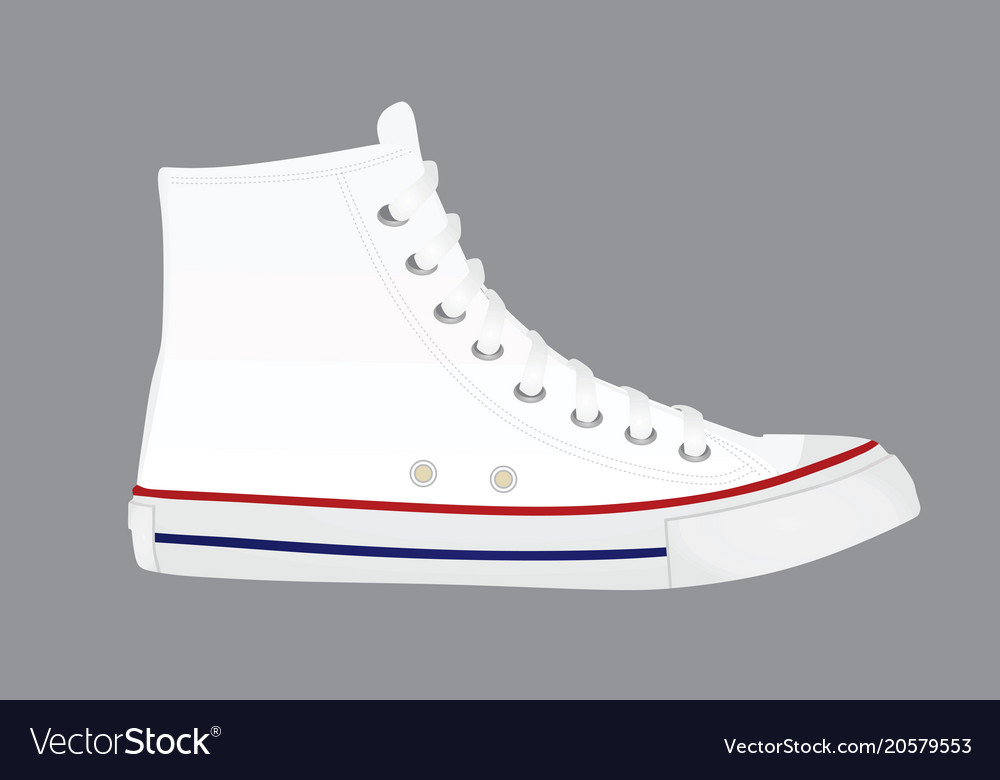 White canvas shoes Royalty Free Vector