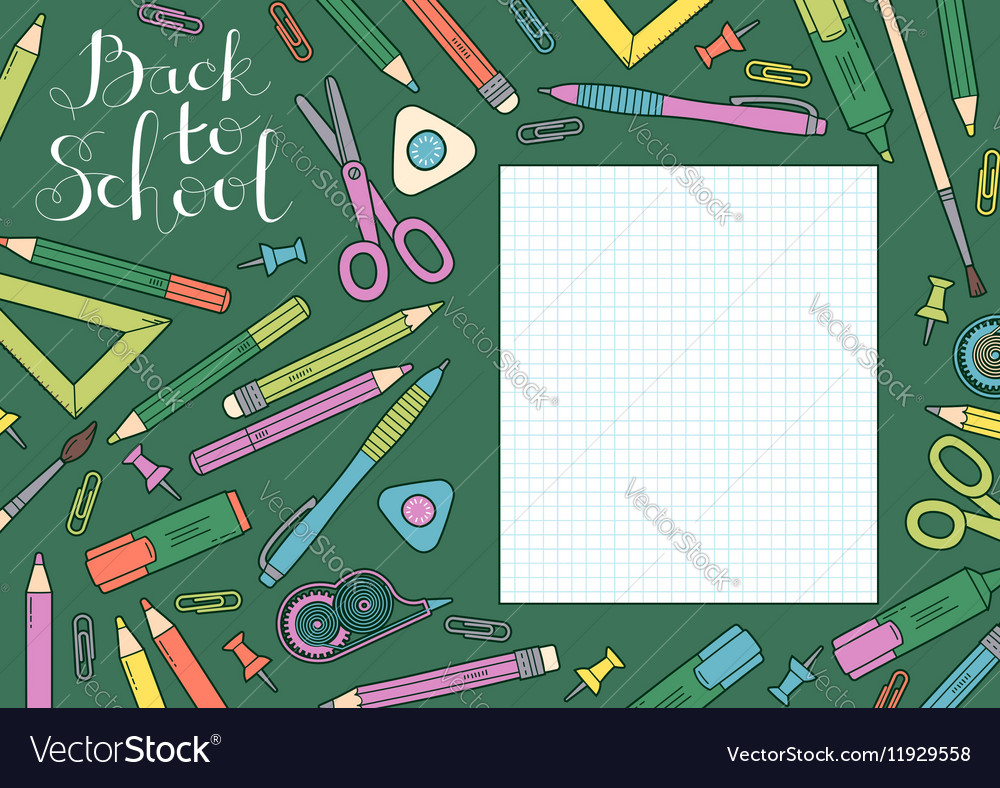 Back to school design template Frame of