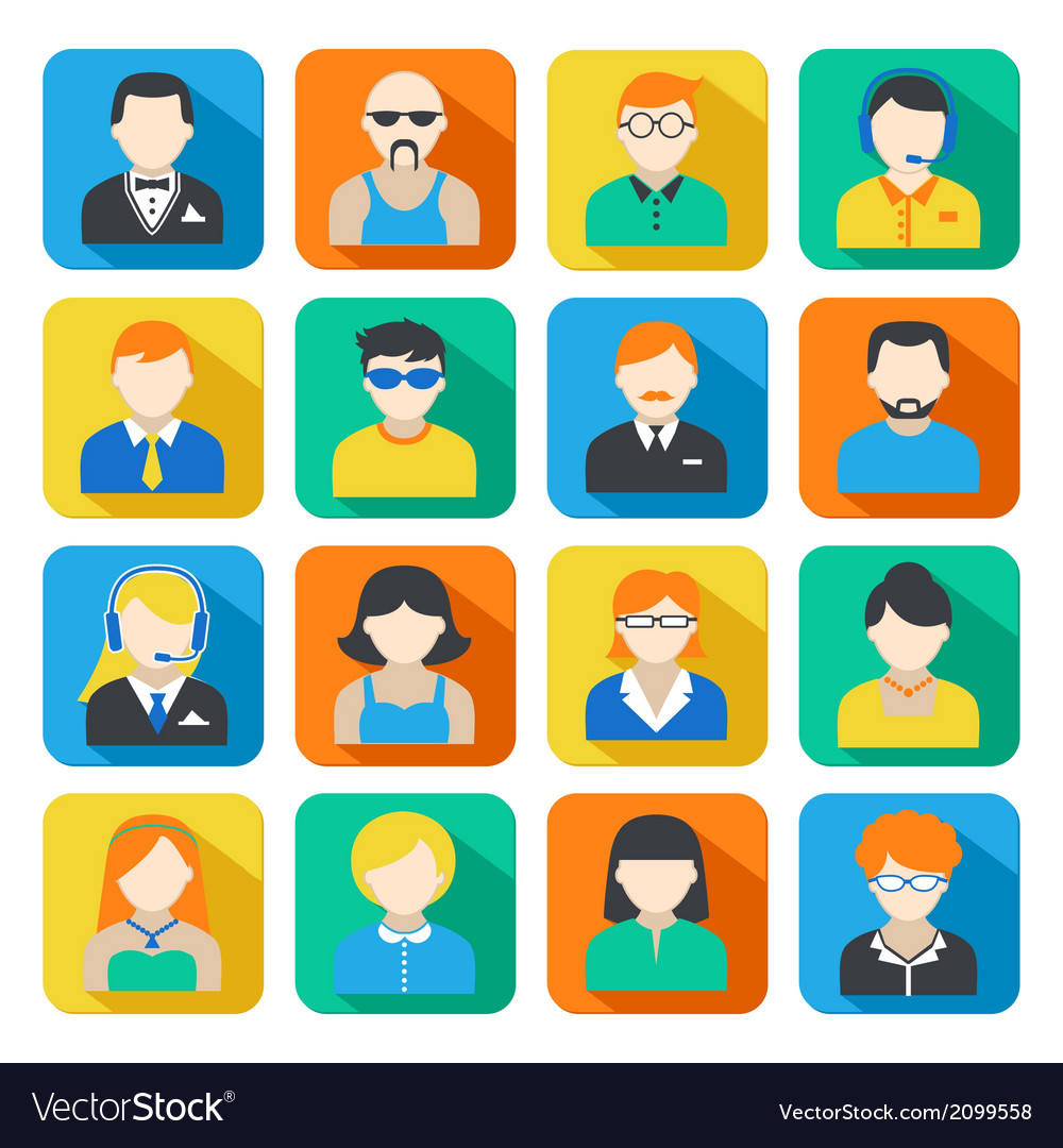 Business Avatar Icons Set vector image