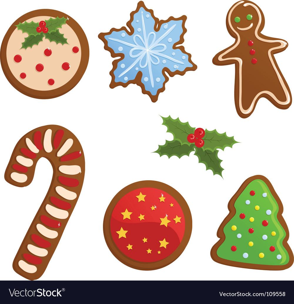 Christmas cookies Royalty Free Vector Image - VectorStock