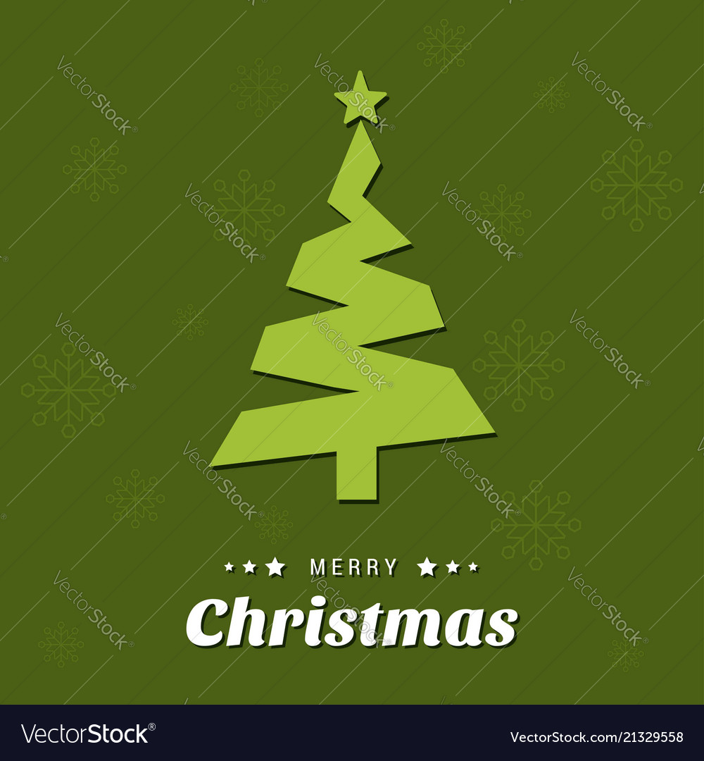 Christmas tree with green background and pattern