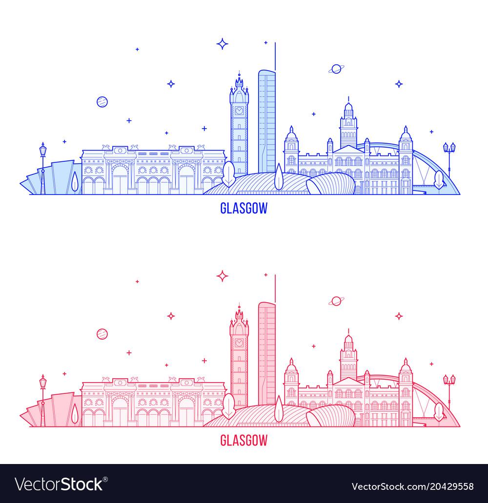 Glasgow skyline scotland uk city buildings