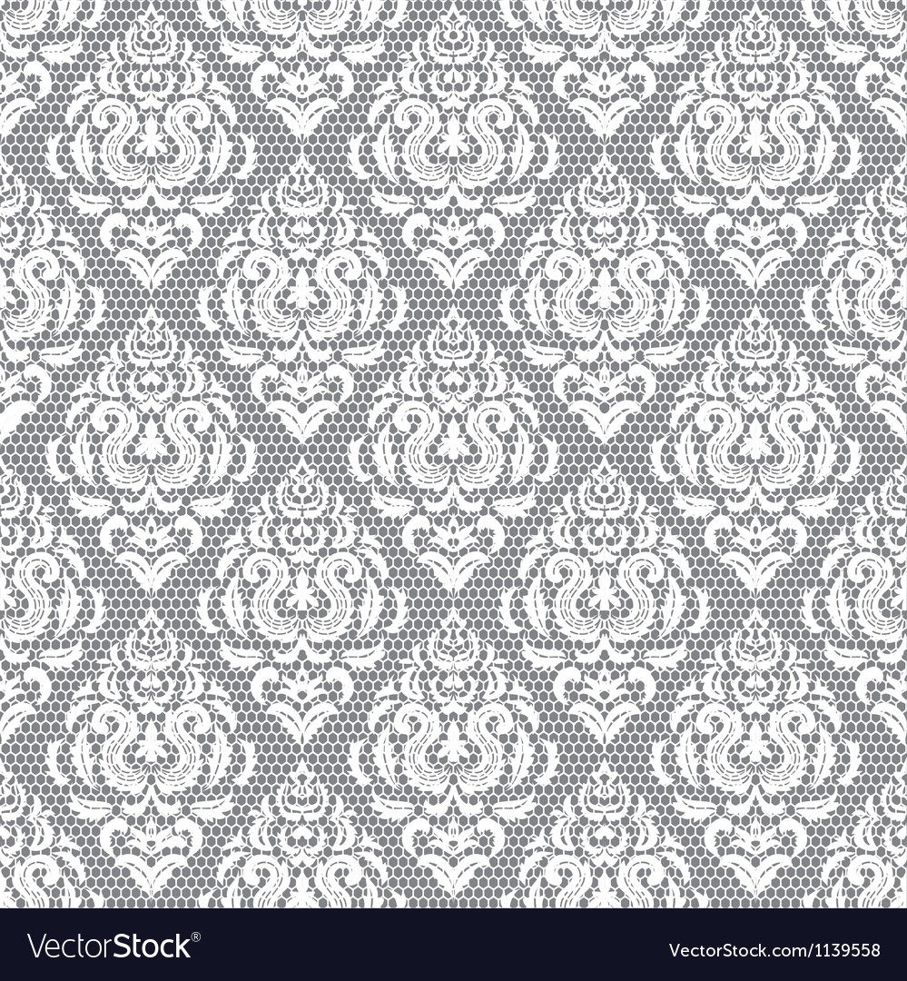 Lace floral pattern on gray background