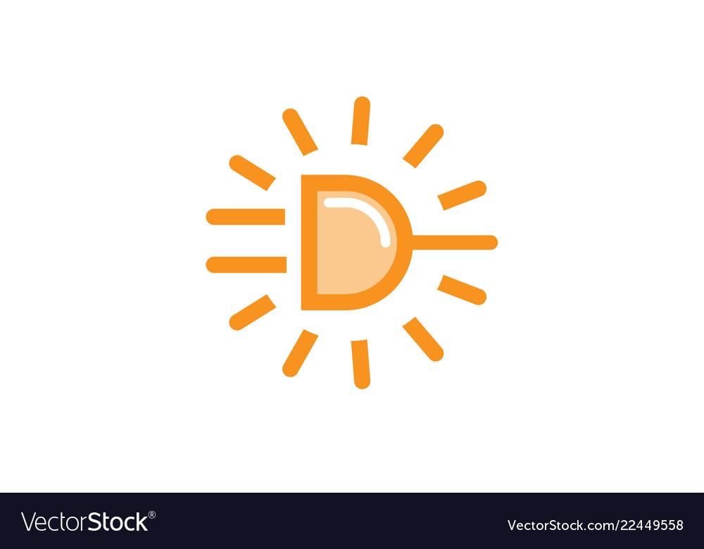Power sun plug icon logo