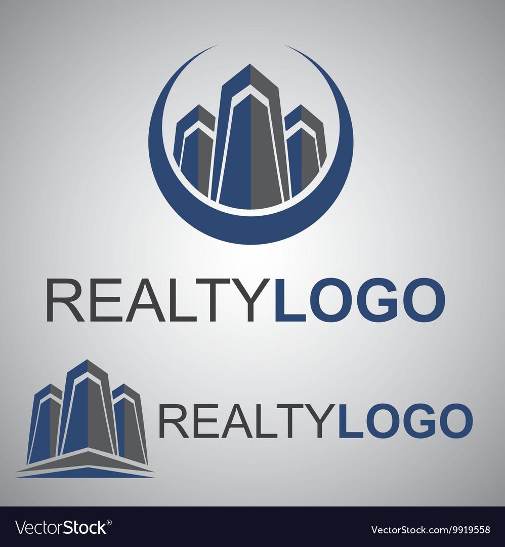 Realty logo 8 2 vector image