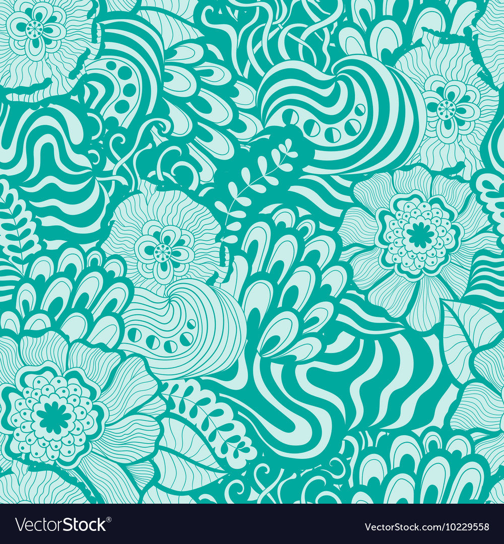 Seamless abstract hand-drawn pattern design