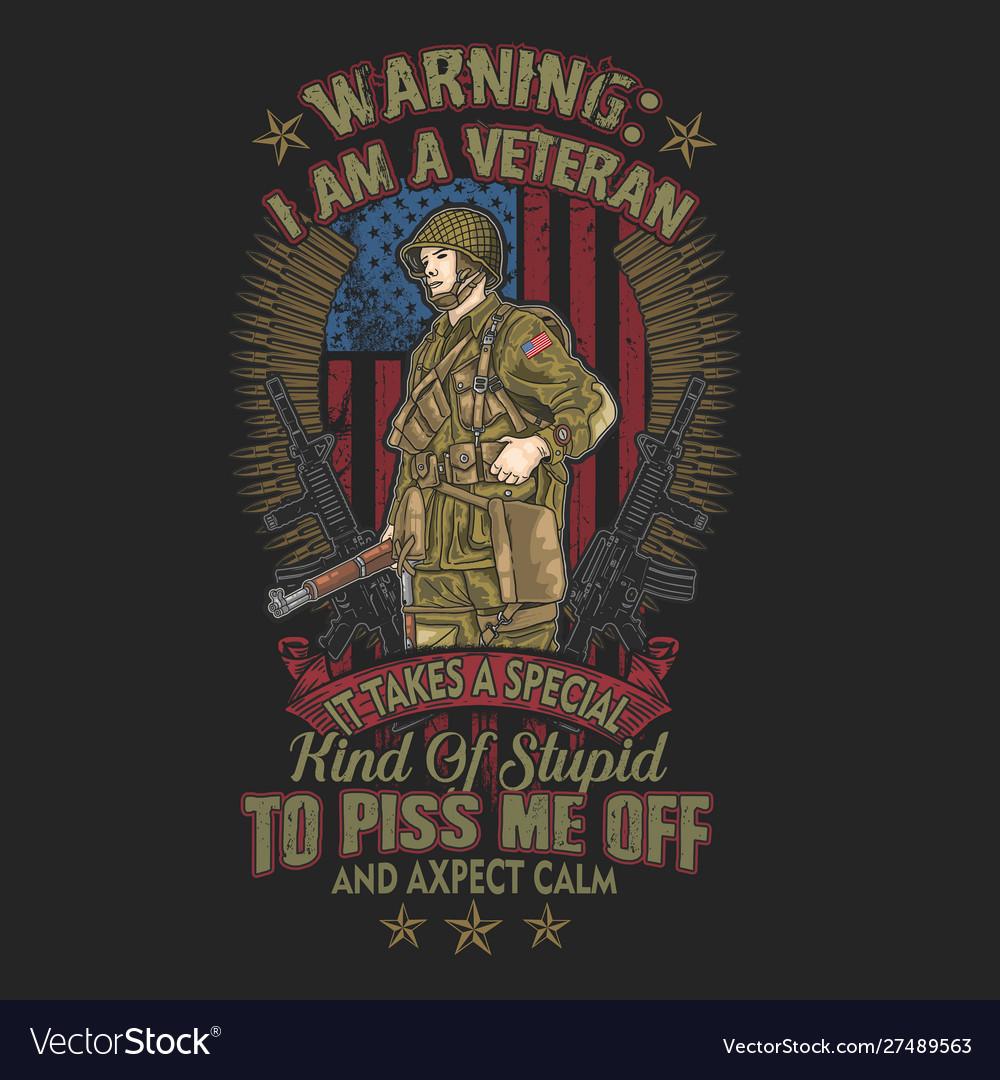 American warning iam a veteran army