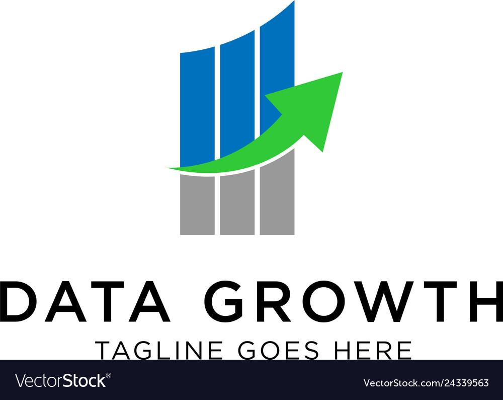 Data growth logo design inspiration