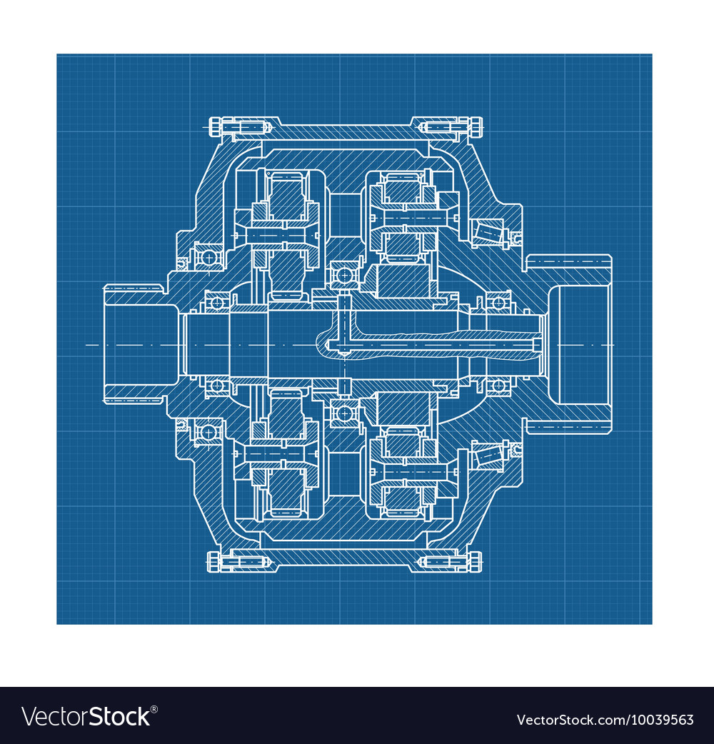 Gears blueprint business concept royalty free vector image gears blueprint business concept vector image malvernweather Choice Image