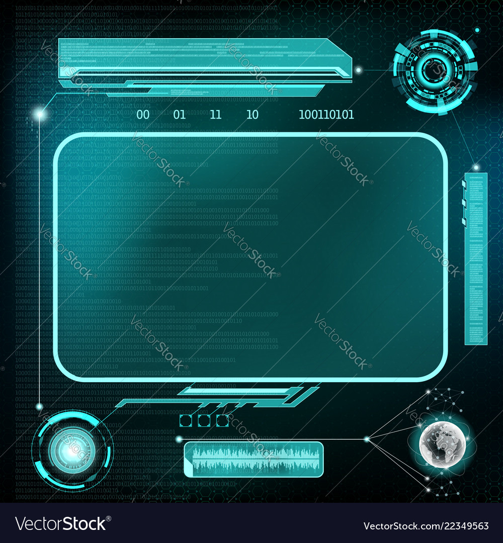 Hud interface futuristic dashboard with screen