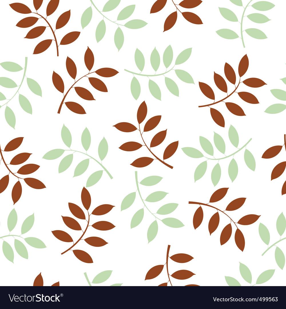 Leaf seamless background vector image