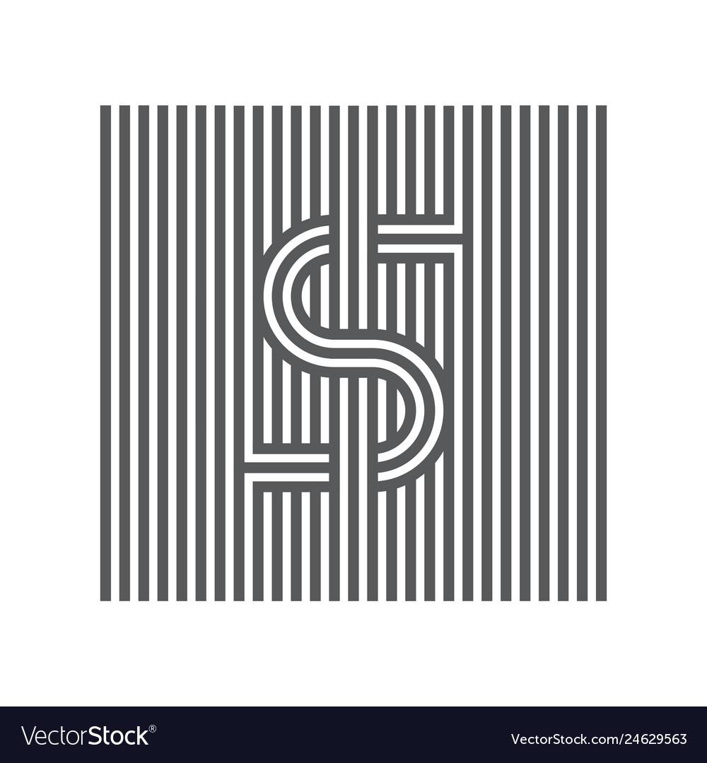Letter s logotype lineart design element logo or