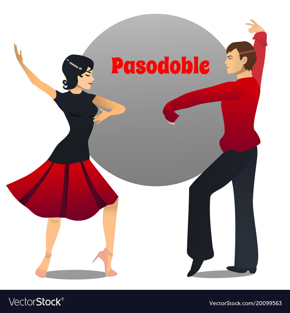 Helt nye Pasodoble dancing couple in cartoon style Vector Image JD-56