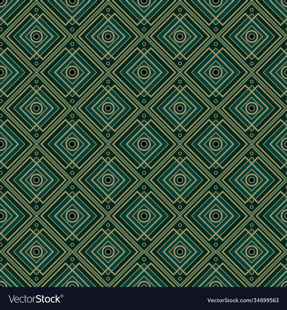 Vintage style art deco geometric seamless pattern