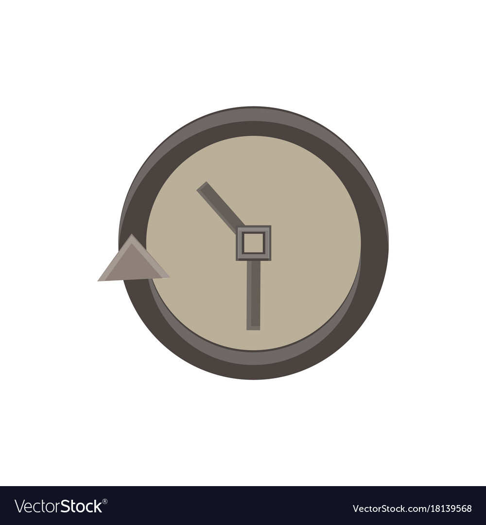 Clock icon time simple face isolated watch symbol