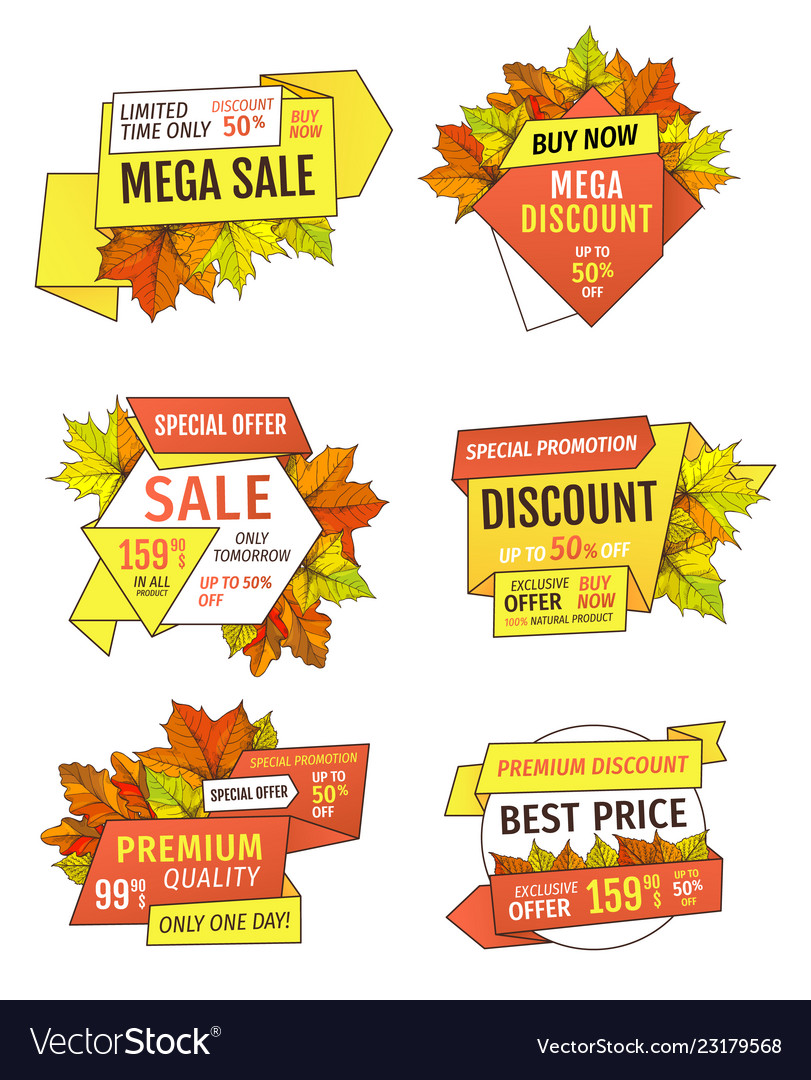 Discounts On Thanksgiving Day Exclusive Offers Set