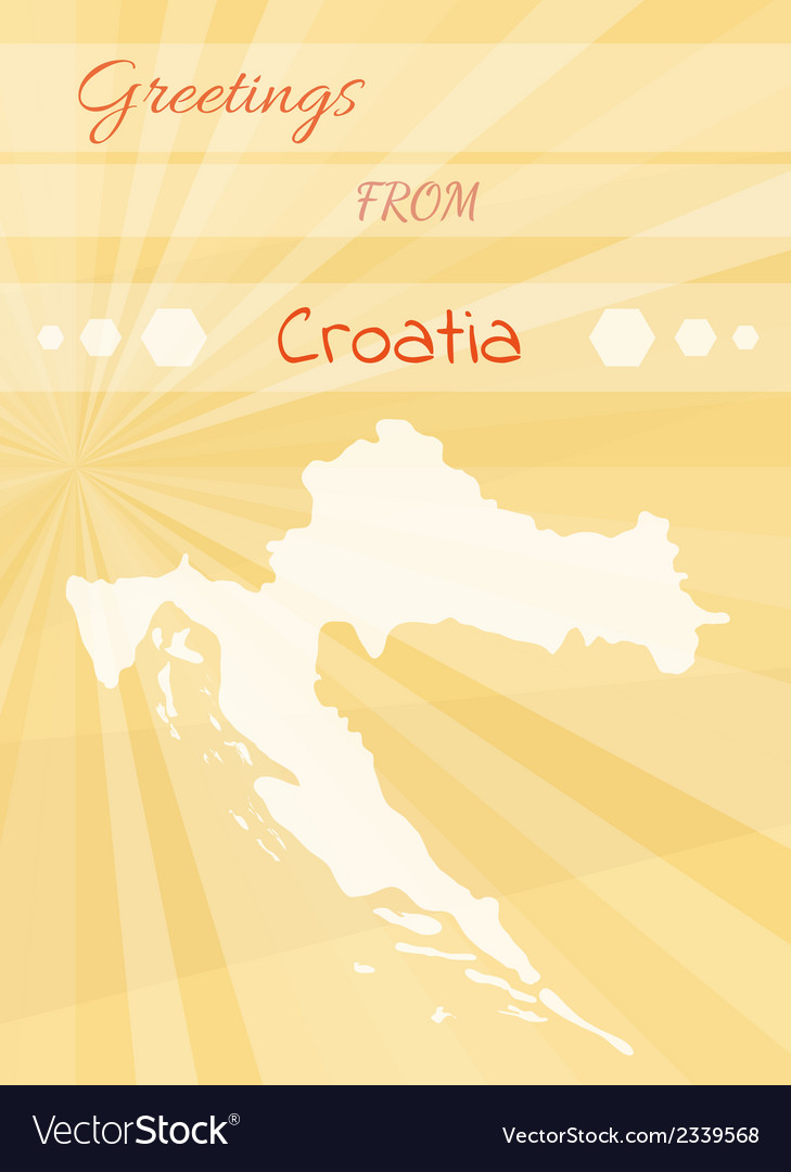 Greetings from croatia vector image