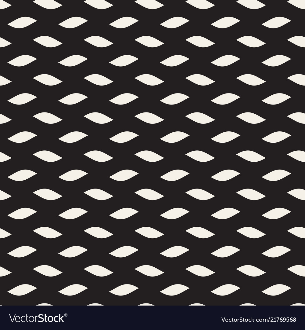 Seamless black and white hand drawn wavy lines