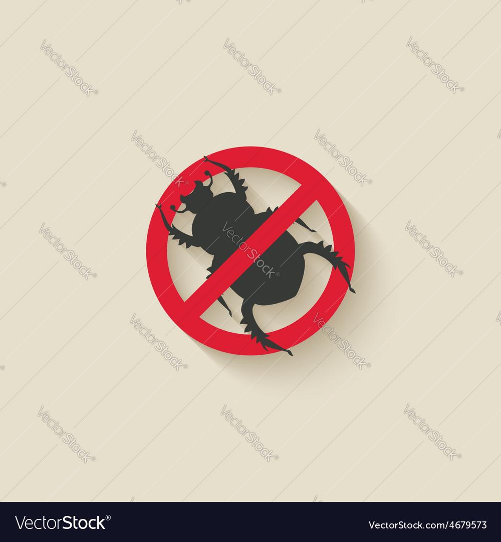 Beetle warning sign