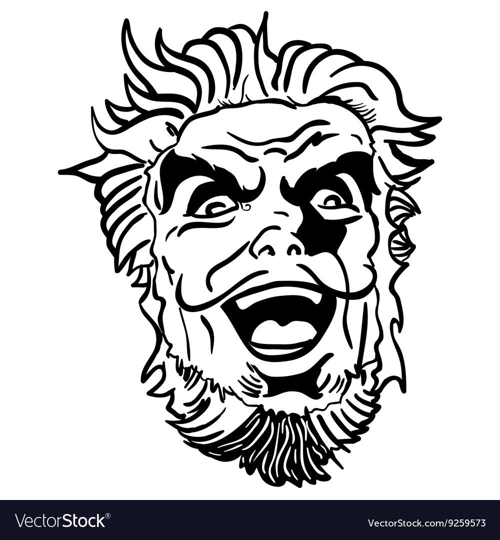 magasin en ligne d1d3c 008cf Black and white crazy man