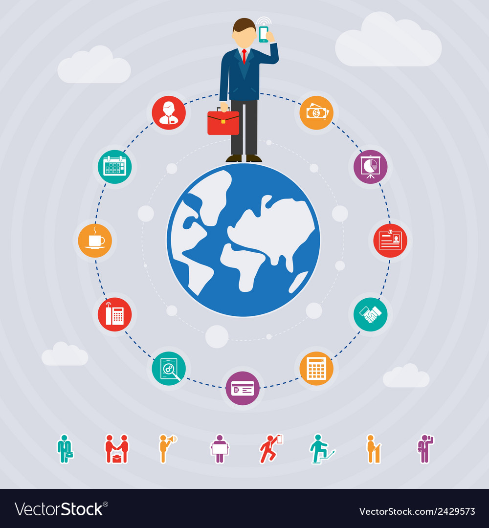 Business around the world vector image