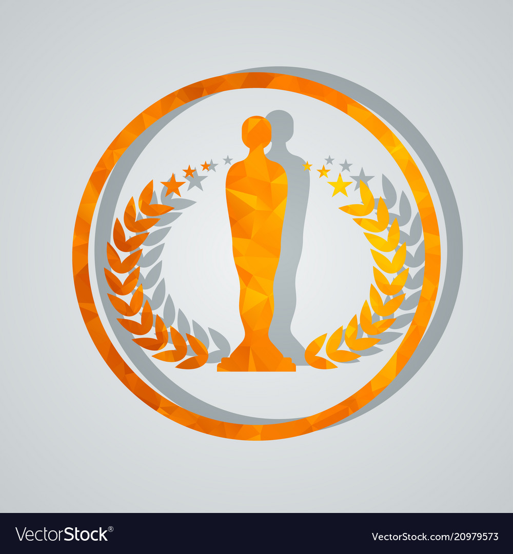 Cinema award with statuette