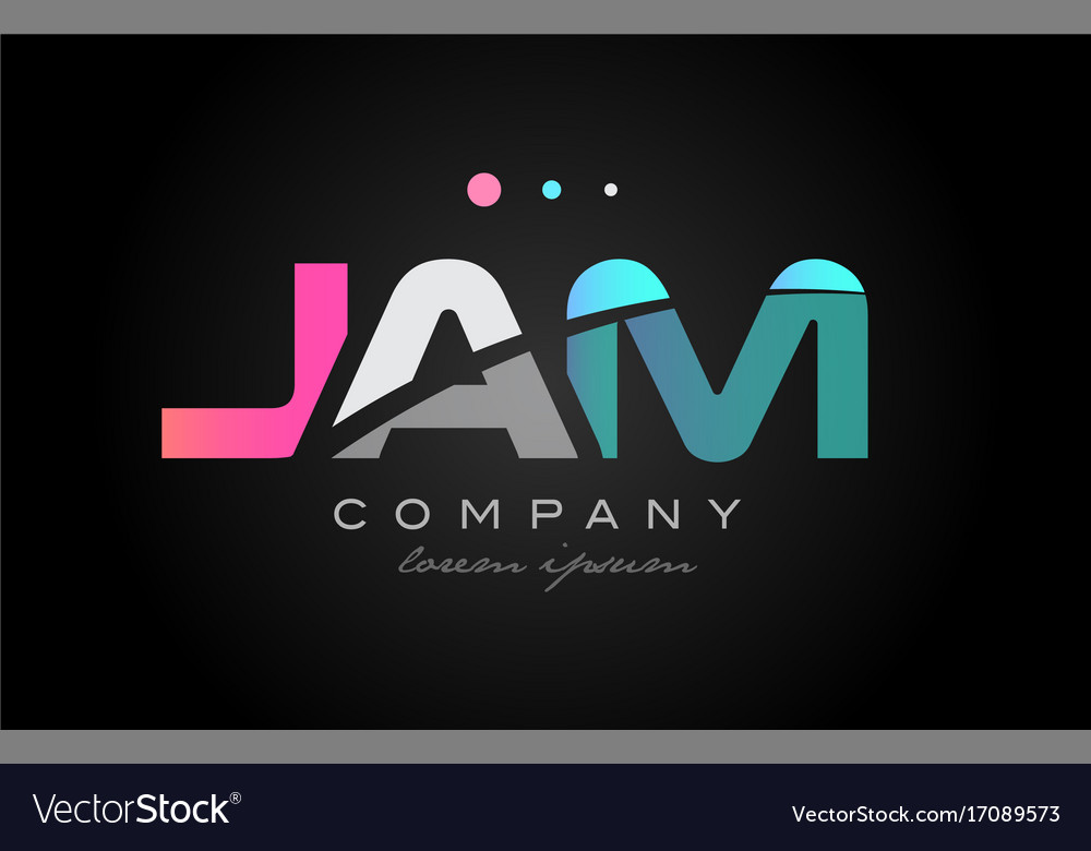Jam j a m three letter logo icon design vector image
