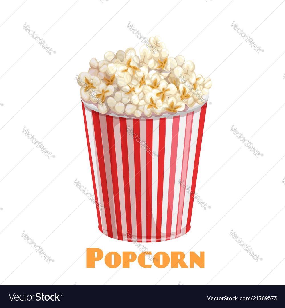 Popcorn striped bowl