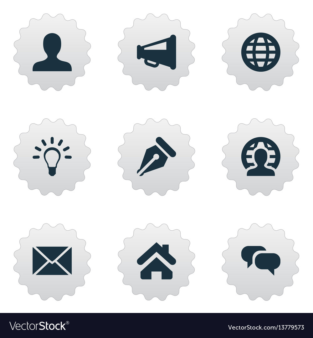 Set of simple trade icons