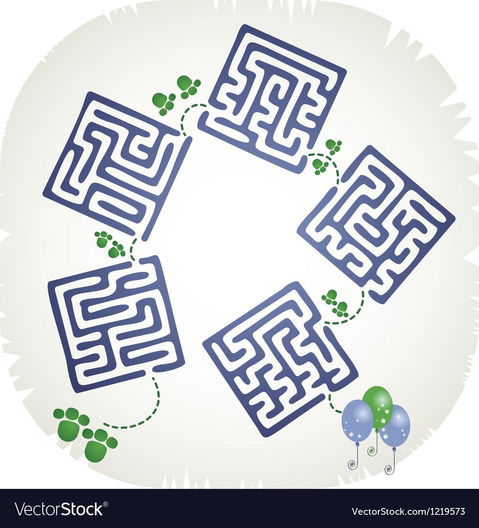 Step maze