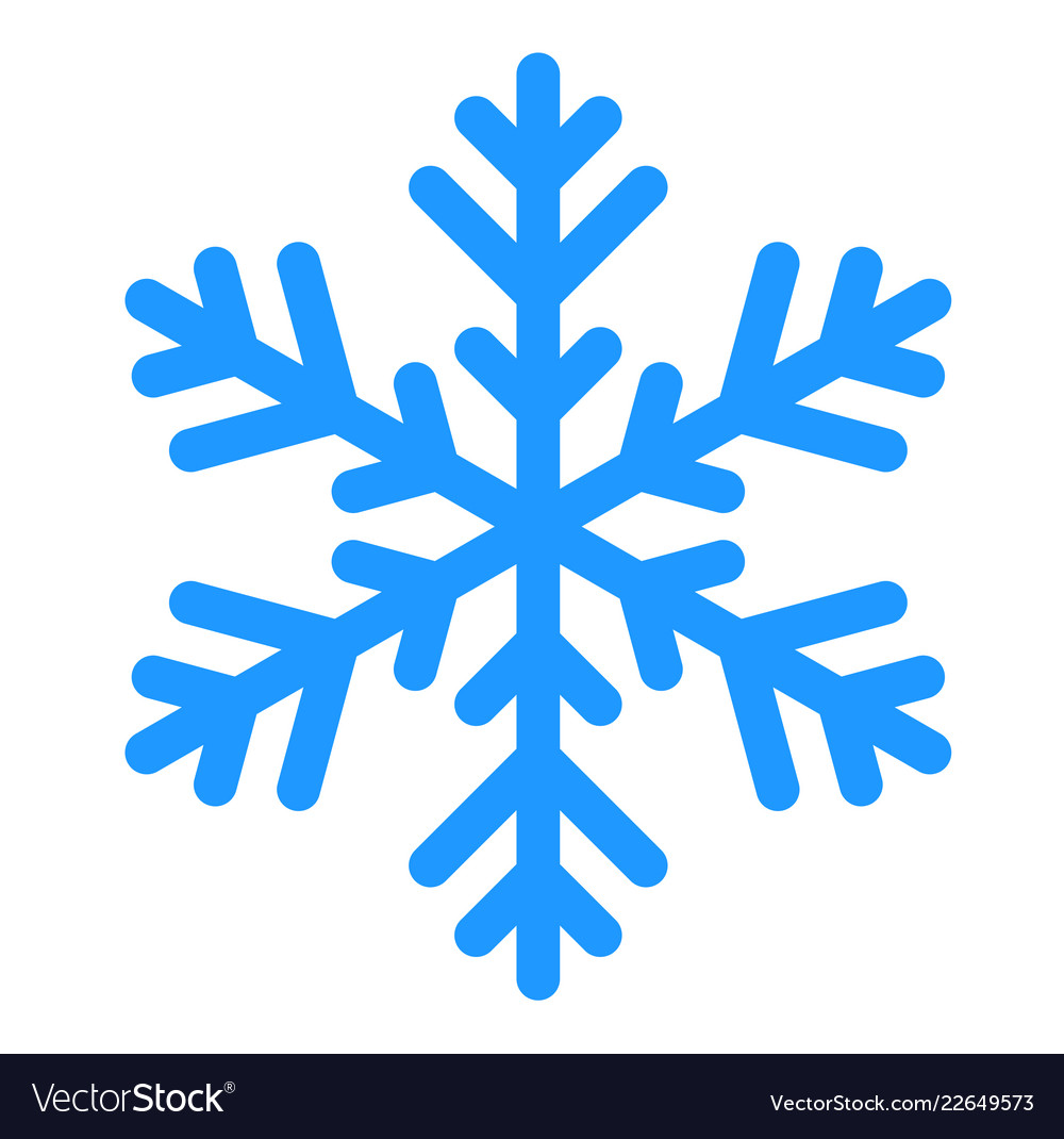 winter snowflake isolated on white royalty free vector image  vectorstock