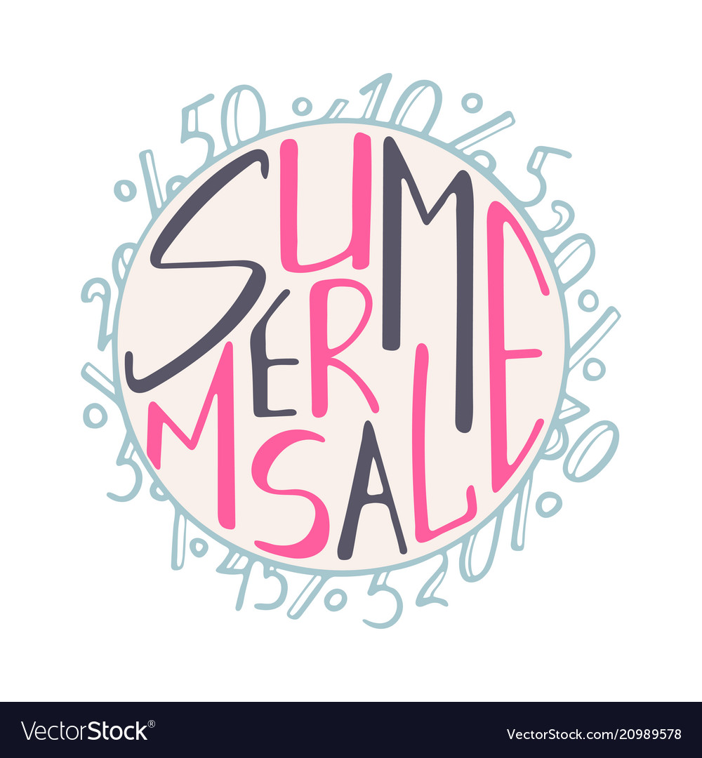 A hand-drawn lettering for the summer sale