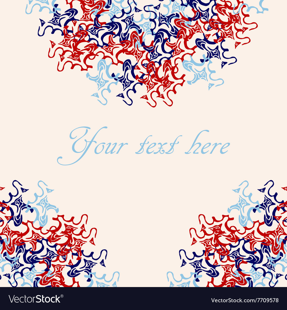 Doodle card template vector image