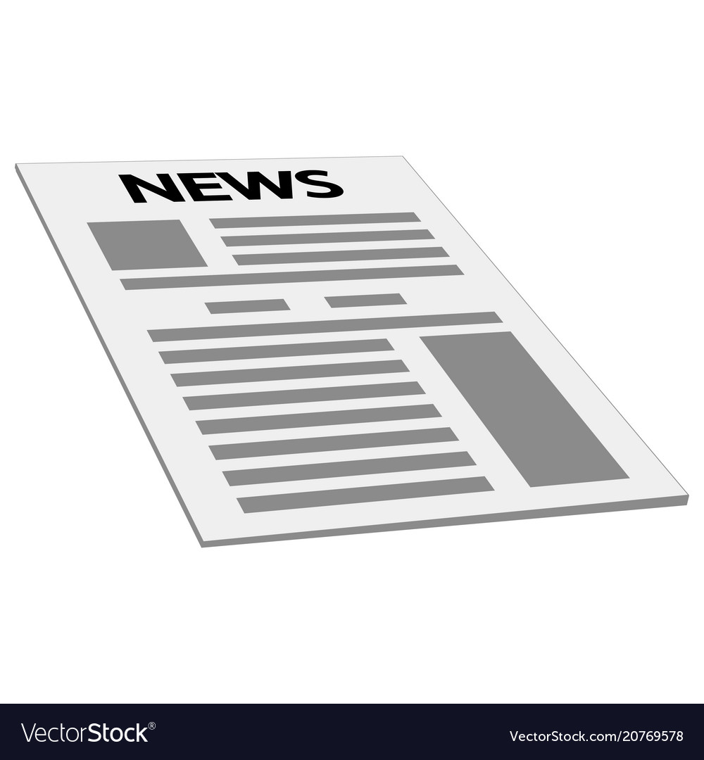 Newspaper news cover page icon mockup template