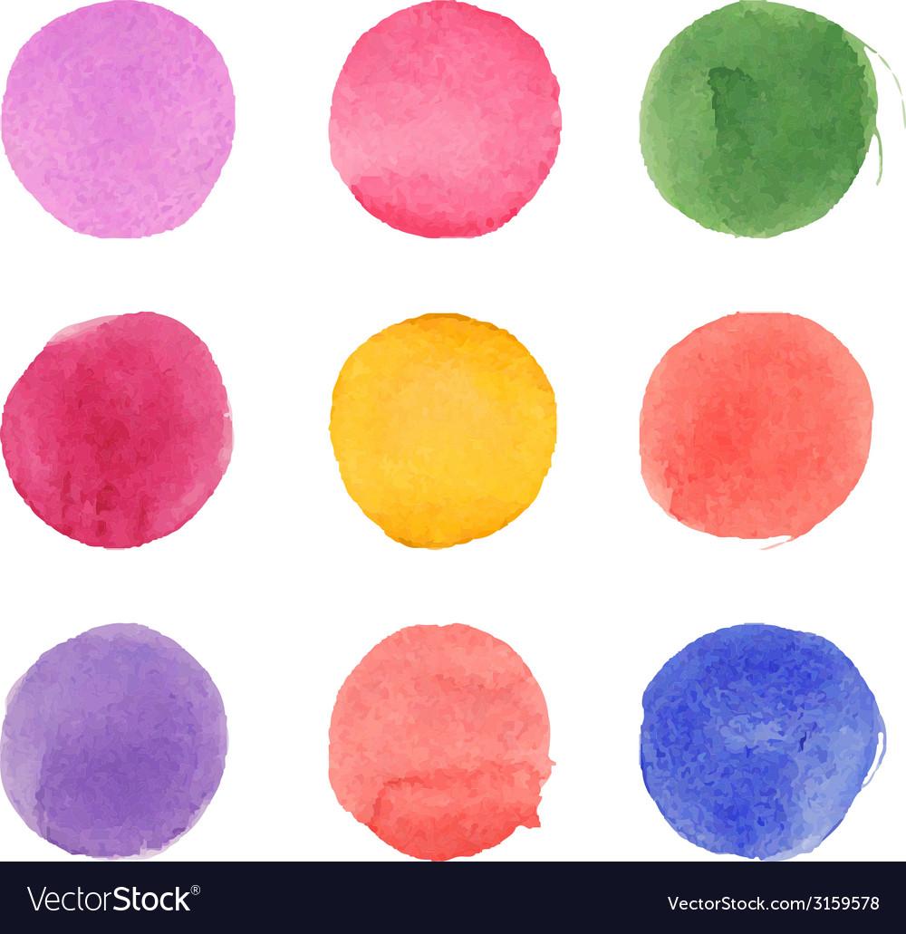 Set watercolor circles