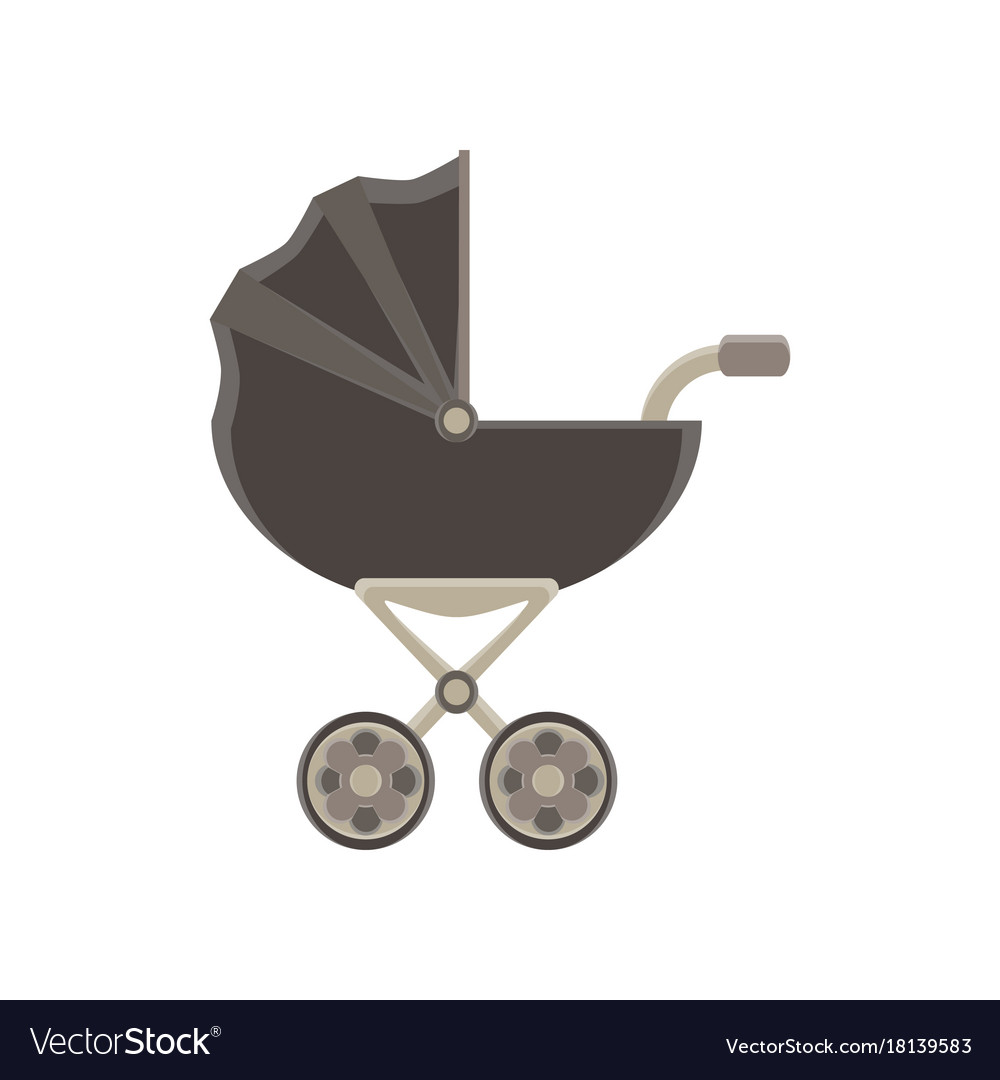 Baby carriage icon pram stroller silhouette