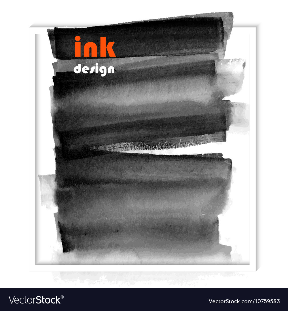 Banner black spots on the wet ink vector image