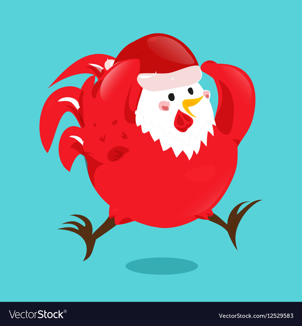 Cartoon chinese zodiac fire rooster
